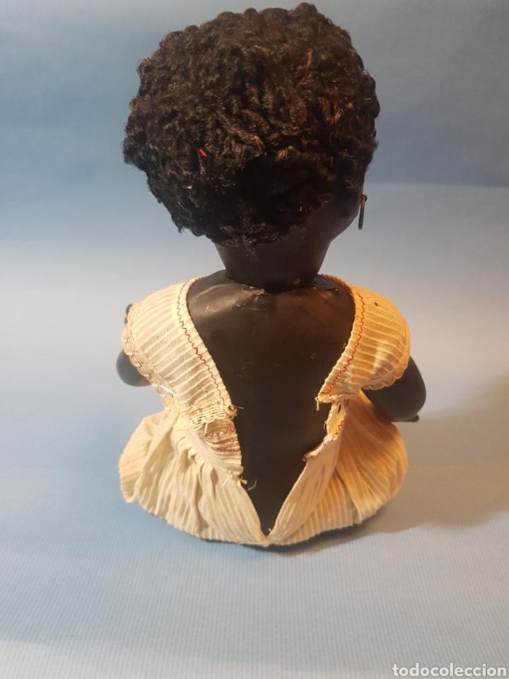Muñecas Porcelana: Muñeca negra de porcelana , pelo de astracan , Argentina , años 1920,30 - Foto 5 - 193749495