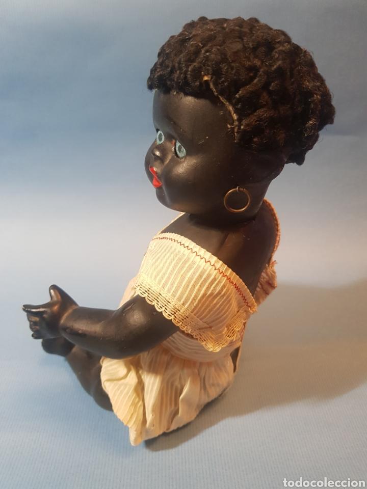 Muñecas Porcelana: Muñeca negra de porcelana , pelo de astracan , Argentina , años 1920,30 - Foto 3 - 193749495