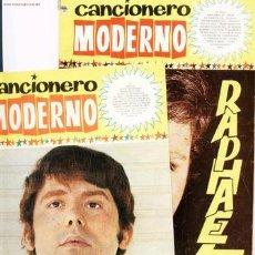 Catálogos de Música: 2 CANCIONEROS MODERNOS DE RAPHAEL.1965. Lote 5483767