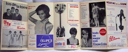 Catálogos de Música: Programa Hostal La Llum Castellón Fiestas Magdalena Rocío Jurado Raphael Lucero Tena Salomé 1967 - Foto 2 - 221123842