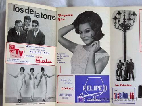 Catálogos de Música: Programa Hostal La Llum Castellón Fiestas Magdalena Rocío Jurado Raphael Lucero Tena Salomé 1967 - Foto 3 - 221123842