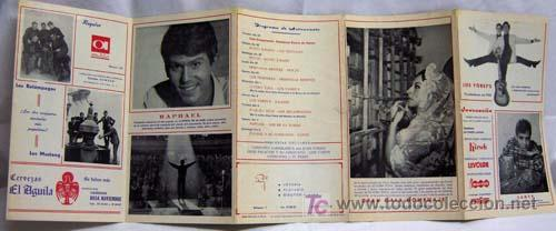 Catálogos de Música: Programa Hostal La Llum Castellón Fiestas Magdalena Rocío Jurado Raphael Lucero Tena Salomé 1967 - Foto 5 - 221123842