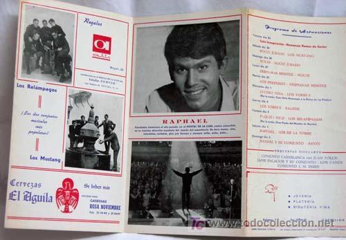 Catálogos de Música: Programa Hostal La Llum Castellón Fiestas Magdalena Rocío Jurado Raphael Lucero Tena Salomé 1967 - Foto 6 - 221123842