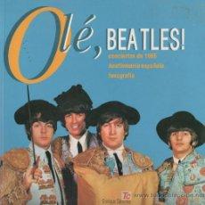 Catálogos de Música: CURIOSO Y RARO LIBRO CATALOGO OLE, THE BEATLES CONCIERTOS DE 1965. Lote 50644176