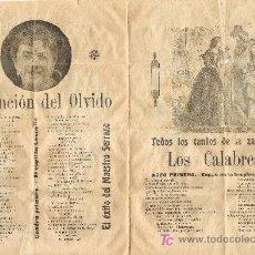 Catálogos de Música: TODOS LOS CANTOS DE LA ZARZUELA DE LOS CALABRESES. Lote 7082459