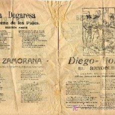 Catálogos de Música: DIEGO = MONTES. Lote 7082562