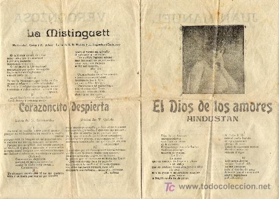 EL DIOS DE LOS AMORES (Música - Catálogos de Música, Libros y Cancioneros)