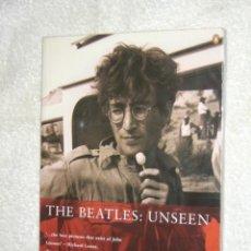 Catálogos de Música: BEATLES UNSEEN LIBRO FOTOGRAFIAS NO VISTAS LENNON COMO GANE LA GUERRA. Lote 57027843