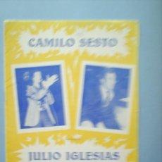 Catálogos de Música: CAMILO SESTO- JULIO IGLESIAS. Lote 8502417