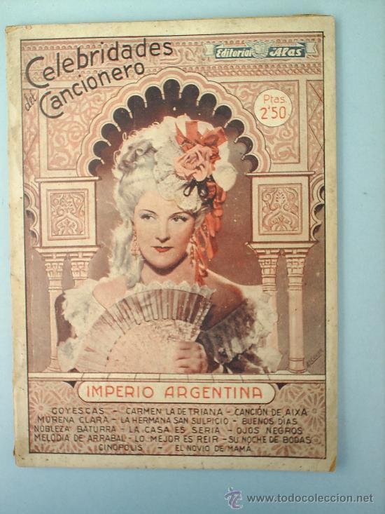 IMPERIO ARGENTINA 1942 (Música - Catálogos de Música, Libros y Cancioneros)