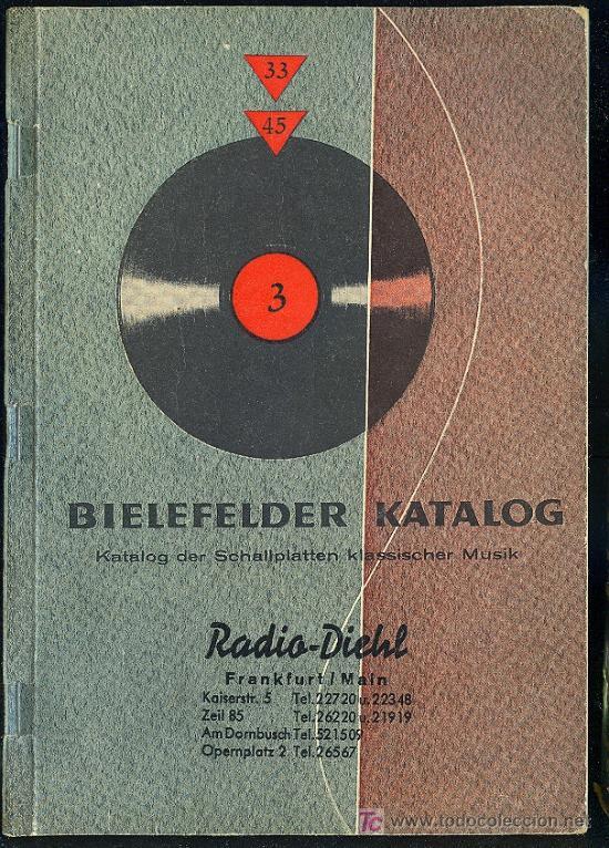CATALOGO DE DISCOS EN ALEMAN . 1960. 271 PAGINAS. (Música - Catálogos de Música, Libros y Cancioneros)