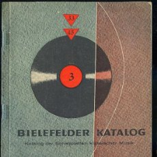 Catálogos de Música: CATALOGO DE DISCOS EN ALEMAN . 1960. 271 PAGINAS.. Lote 20036954