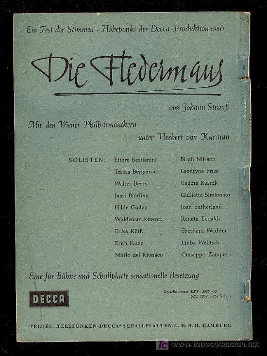 Catálogos de Música: CATALOGO DE DISCOS EN ALEMAN . 1960. 271 PAGINAS. - Foto 2 - 20036954
