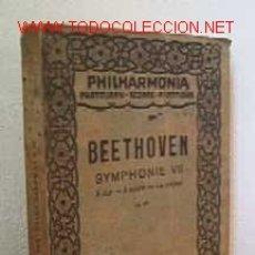Catálogos de Música: BEETHOVEN - SYMPHONIE VII. Lote 27295542