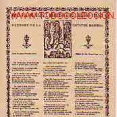 Catálogos de Música: GOIGS A LLAOR DEL SANTS MARTIRS MAURICI FRUCTUOS I AGNES, PATRONS DE MANRESA. Lote 1823353