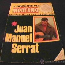 Catálogos de Música: JUAN MANUEL SERRAT. CANCIONERO MODERNO. 2ª VERSION CON NUEVAS CANCIONES. EDICIONES ESTE 1965.. Lote 10490652