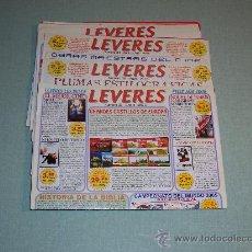 Catálogos de Música: LOTE DE 10 CATALOGOS LEVERES ( EMPRESA ADHERIDA AL GRUPO DISCOPLAY). Lote 26484454