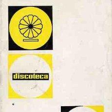 Catálogos de Música: CATALOGO MUSICA Y CANCIONES DE ASTURIAS- DISCOTECA AÑO 1966-37 PAGS. CON PORTADAS -DISCOSY CANC. Lote 21010832