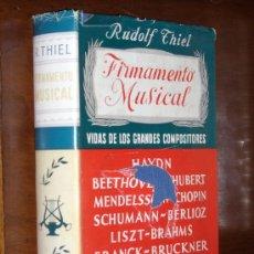 Catálogos de Música: FIRMAMENTO MUSICAL POR RUDOLF THIEL DE ESPASA CALPE EN MADRID 1962 2ª EDICIÓN. Lote 21786381
