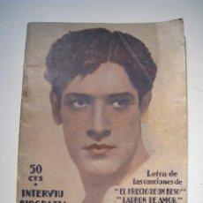 Catálogos de Música: CANCIONERO Y BIOGRAFIA DE JOSE MOJICA - BISTAGNE. Lote 14529009