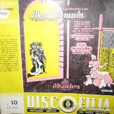 """Cataloghi di Musica: CATALOGO """" DISCOFILIA """" Nº 10 ENERO-FEBRERO 1957. NOTICIARIO MENSUAL DEL DISCO ESPAÑOL.. Lote 27013308"""