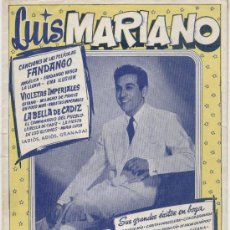 Catálogos de Música: CANCIONERO - LUIS MARIANO - EDICIONES BISTAGNE. Lote 26580084