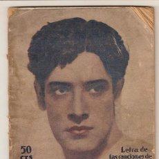 Catálogos de Música: 3070 - INTERVIU Y BIOGRAFIA DE JOSE MOJICA Y CANCIONERO -EDICIONES BISTAGNE. Lote 27593769