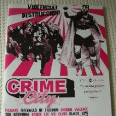 Catálogos de Música: FANZINE CRIME CITY - NUMERO 2 -. Lote 17089608