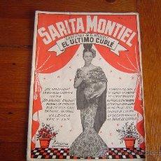 Catálogos de Música: CANCIONERO DE MÚSICA..SARITA MONTIEL.. Lote 18574414
