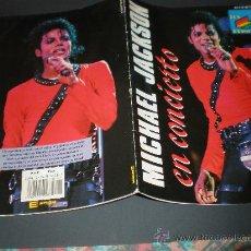 Catálogos de Música: MICHAEL JACKSON EN CONCIERTO MADRID 1988 COLECCION ERISA (POSTER A TODO COLOR). Lote 22259279