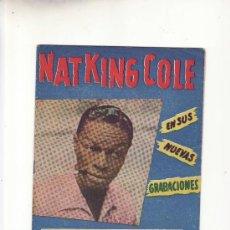 Catálogos de Música: NAT KING COLE.CANCIONERO Nº 69.ED.ALAS.MAS COLECCIONISMO EN RASTRILLOPORTOBELLO. Lote 24658130