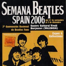Catálogos de Música: BEATLES - PROGRAMA SEMANA BEATLES SPAIN 2006 - DÍPTICO. Lote 22614813