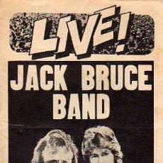 Catálogos de Música: JACK BRUCE BAND CON MICK TAYLOR DE LA REVISTA LIVE. Lote 20585032