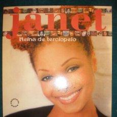 Catálogos de Música: JANET-REINA DE TERCIOPELO- HERMANA DE MICHAEL JACKSON - LIBRO CON POSTER LA MASCARA 48 PAG. 21X28 CM. Lote 26626593