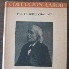 Catálogos de Música: ESTETICA. PROF. FELICIEN CHALLAYE. EDITORIAL LABOR 1935.. Lote 20812681