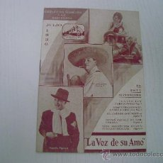 Catálogos de Música: CATALOGO DE LA VOZ DE SU AMO - JULIO 1.930 - COMPAÑIA DEL GRAMOFONO S.A.E. (BARCELONA). Lote 21821788