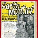 Catálogos de Música: CANCIONERO, SARA MONTIEL SARITA MONTIEL , EL ULTIMO CUPLE , ORIGINAL. Lote 23576699
