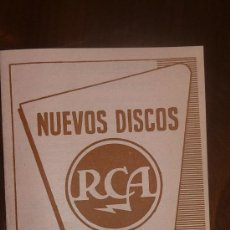 Catálogos de Música: CATALOGO NUEVOS DISCOS RCA SELECCIONES DE JULIO 1957. Lote 24565435
