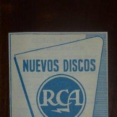 Catálogos de Música: CATALOGO NUEVOS DISCOS RCA SELECCIONES DE ENERO 1957. Lote 24565464