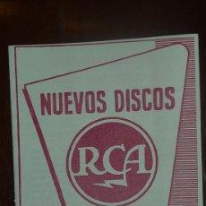 Catálogos de Música: CATALOGO NUEVOS DISCOS RCA SELECCIONES DE MAYO 1957. Lote 24565499
