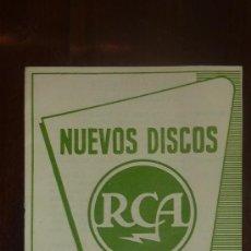 Catálogos de Música: CATALOGO NUEVOS DISCOS RCA SELECCIONES DE DICIEMBRE 1956. Lote 24565519