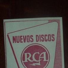 Catálogos de Música: CATALOGO NUEVOS DISCOS RCA SELECCIONES DE MAYO 1957. Lote 24565552