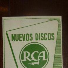 Catálogos de Música: CATALOGO NUEVOS DISCOS RCA SELECCIONES DE DICIEMBRE 1956. Lote 24565582