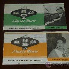 Catálogos de Música: 2 CATALOGOS PUBLICITARIOS DE DISCOS. NUEVOS DISCOS DE VARIEDAD DE CASAS. VOZ DE SU AMO, PATHE.... Lote 24565853