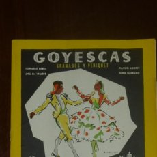 Catálogos de Música: CATALOGO DE DISCOS. GOYESCAS GRANADOS Y PERQUET. MAYO DE 1957.. Lote 24565990