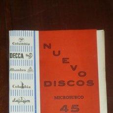 Catálogos de Música: CATALOGO NUEVOS DISCOS. VARIEDAD. SUPLEMENTO Nº7. MAYO 1957. Lote 24566090