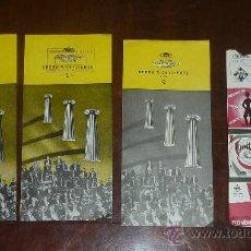 Catálogos de Música: LOTE DE 4 FOLLETOS DE MUSICA. OPERA Y CONCIERTO 1 Y 2 DE 1957. TELEFUNKEN.. Lote 24566173