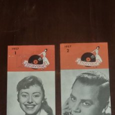 Catálogos de Música: 2 FOLLETOS DE POLYDOR DE CATALOGOS DE DISCOS. 1957.. Lote 24566208