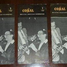 Catálogos de Música: CATALOGO DE CORAL. ORIGINAL RECORDING AMERICAN. 1 Y 2 DE 1957.. Lote 24567425