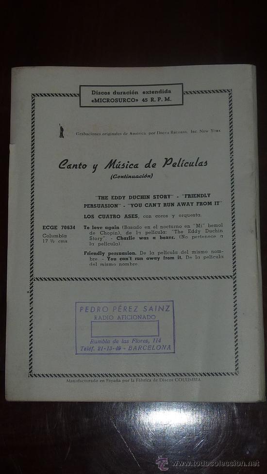 Catálogos de Música: Catalogo Nuevos discos. variedad. suplemento nº7. Mayo 1957 - Foto 3 - 24566090